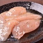 宮崎 小林養鶏 直営店 しちりん焼肉 わさび - 新鮮『むね肉の黒胡椒焼き』