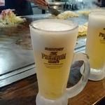 電光石火 - キンキンに冷えた生ビール