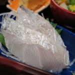 くげ庵 - 太刀魚の炙りアップ