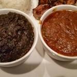 ムガルキッチン - サグマトンカァサリー、チキンジャルピィアジィ