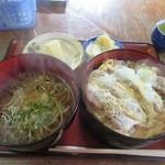 志ほ川 - 料理写真:かつ丼セット950円(税込)