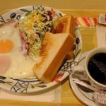 エビスヤキッチン - 料理写真:ベーコンエッグセット
