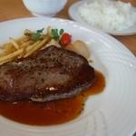 津山鶴山ホテル - ロースステーキ