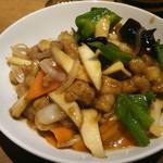 45338265 - 鶏肉とエリンギの中華風炒め