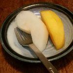 たくみ割烹店 - フルーツ(梨・柿)