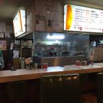 餃子会館 - 席から厨房をパシャ