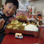 Yakisobamorimori - 生姜焼きランチ・ご飯麺両方大盛り
