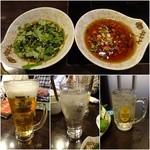 四季海岸 - 香菜ダレ/にんにくダレ/飲み放題のビール・チューハイ・角ハイボール