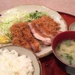 かつふみ - ジャンボロースカツ定食¥1250