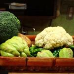 てんぷら 味覚 - 自慢の有機野菜