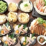 天ぷら海鮮 五福 - かに刺し・かに鍋宴会コース
