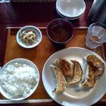 45353219 - ジャンボ餃子定食(小ライス)860円