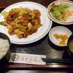 45355289 - 豚バラキャベツ辛口炒定食