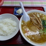 あさひや食堂 - 料理写真:<'15.12.08>半ライスとラーメンセット