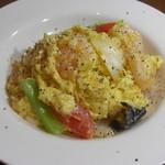 餃子の花家 - 優しい味わいの海老と卵の塩炒め ディナー限定