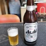 米田食堂 - ドリンク写真:大瓶(500円)