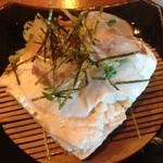 朴庵 - おぼろ豆腐。大きい。濃厚な味で美味しい