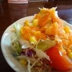 45364837 - サラダにはインド料理らしく「人参ドレッシング」がかけられています。
