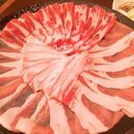 45365731 - 極上 六白黒豚しゃぶ鍋(ロース・バラ・モモ・野菜盛)