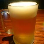 べいらっきょ - 中生ビール・350円