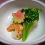 とんかつ錦 - (2015/12)炊合せは海老と大根と菜の花