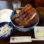 むらい - ロースかつ丼(ソースかつ丼)1400円