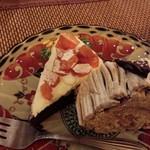 45377045 - 干し柿のウオーターチョコ、バターケーキ