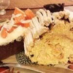45377047 - 干し柿のウオーターチョコ、バターケーキ
