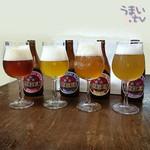 盛田金しゃちビール犬山工場 -  「ミツボシビール」4種類飲み比べ