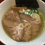 はまんど横須賀 - 中華そば(平打麺)700円+特増し300円