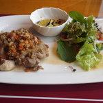 新宿三井クラブ - 鶏モモ肉とランティーユの煮込み
