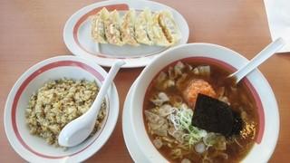 幸楽苑 栄町店 - 肉中華そばと半チャーハンセット