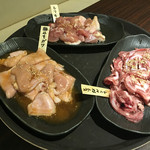 太田精肉店 - 鶏肉もも、軟骨、ガツ