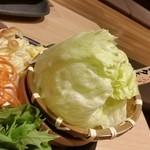 しゃぶしゃぶ温野菜 - 15.12.03:最初の野菜たち