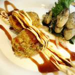 45396843 - 牡蠣のオイル漬けと魚カツレツ ¥1480