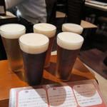 45398014 - 世界のビール5種飲み比べ イギリス・ドイツ・チェコ・アメリカ・ベルギー