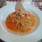 454306 - ズワイガニのトマトクリームスパゲッティ