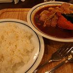 木多郎 - ベーコンエッグ菜の花カリー(特別メニュー)