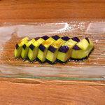 Shin - 泉州 水ナス 醤油オリーブオイルソース