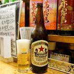 平成大衆酒場 やきとん じゃんじゃん - 2015.12 サッポロラガー大瓶(650円)