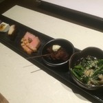 さかな堂 - 前菜盛り合わせ(2015,11)
