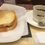 ドトールコーヒーショップ - おはようございます。 雨の金曜日、週末までもう少し。