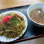 浅野食堂 - スープやきそば 600円