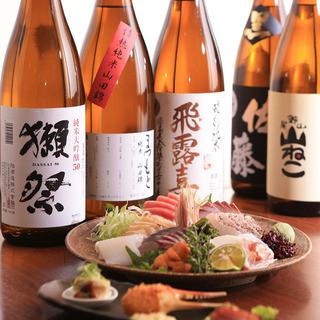 新鮮な魚介とこだわりの日本酒