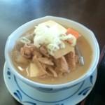 みのり食堂 - 2015/11/05 12:40訪問 モツ煮