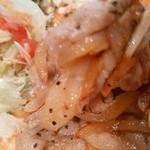 45410784 - 【2015.12.11(金)】ハーブ三元豚バラしょうが焼ランチ900円の生姜焼き