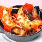 ワイン食堂ウノ - オマール海老とムール貝のプロヴァンス風煮込み