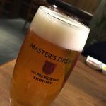 焼肉ホルモン 青一 - 生ビール(マスターズドリーム)800円
