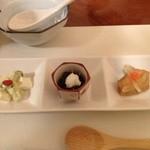花木鳥 - 前菜(旬彩三種盛り)