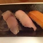 花木鳥 - にぎり寿司本日の鮮魚三貫盛り